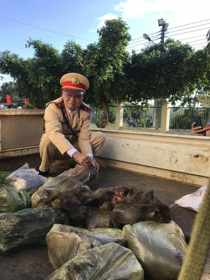 Đắk Lắk: Bắt đối tượng chở cả bao tải khỉ đã chết