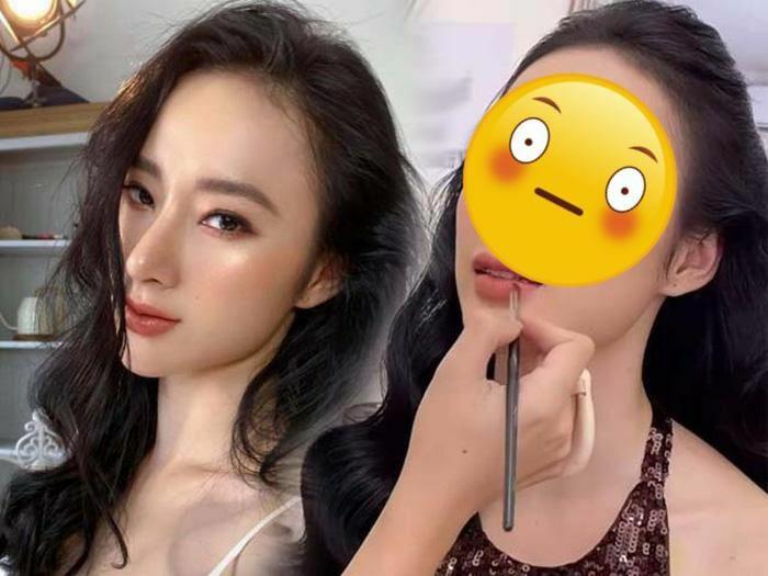 Soi cận nhan sắc Angela Phương Trinh khi đang trang điểm