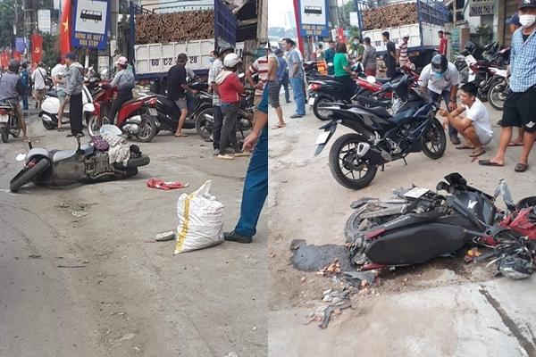 Biên Hòa: 2 xe tải va chạm, lao lên vỉa hè tông vào nhà dân, người nằm la liệt