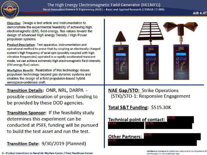 """Lộ tài liệu chứng minh Hải quân Mỹ đang thử nghiệm loại """"vũ khí chỉnh sửa không thời gian"""""""