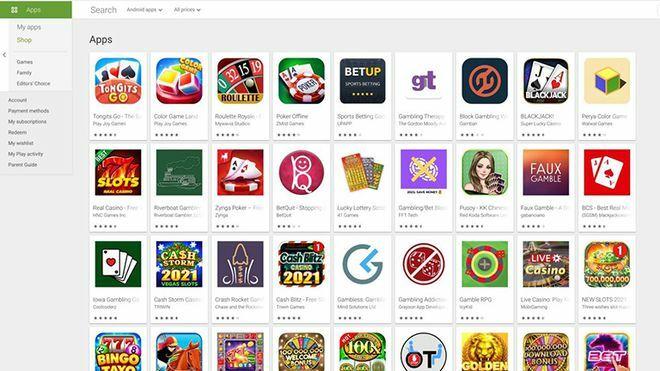 Google Play cho phép ứng dụng cờ bạc có mặt ở một số quốc gia