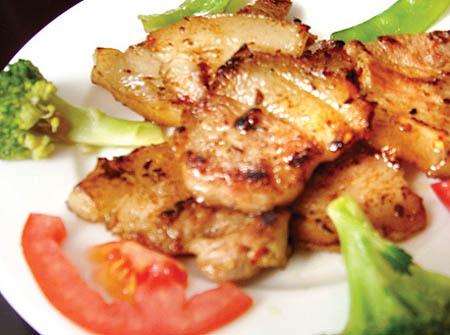 Thịt ba rọi nướng kiểu Thái