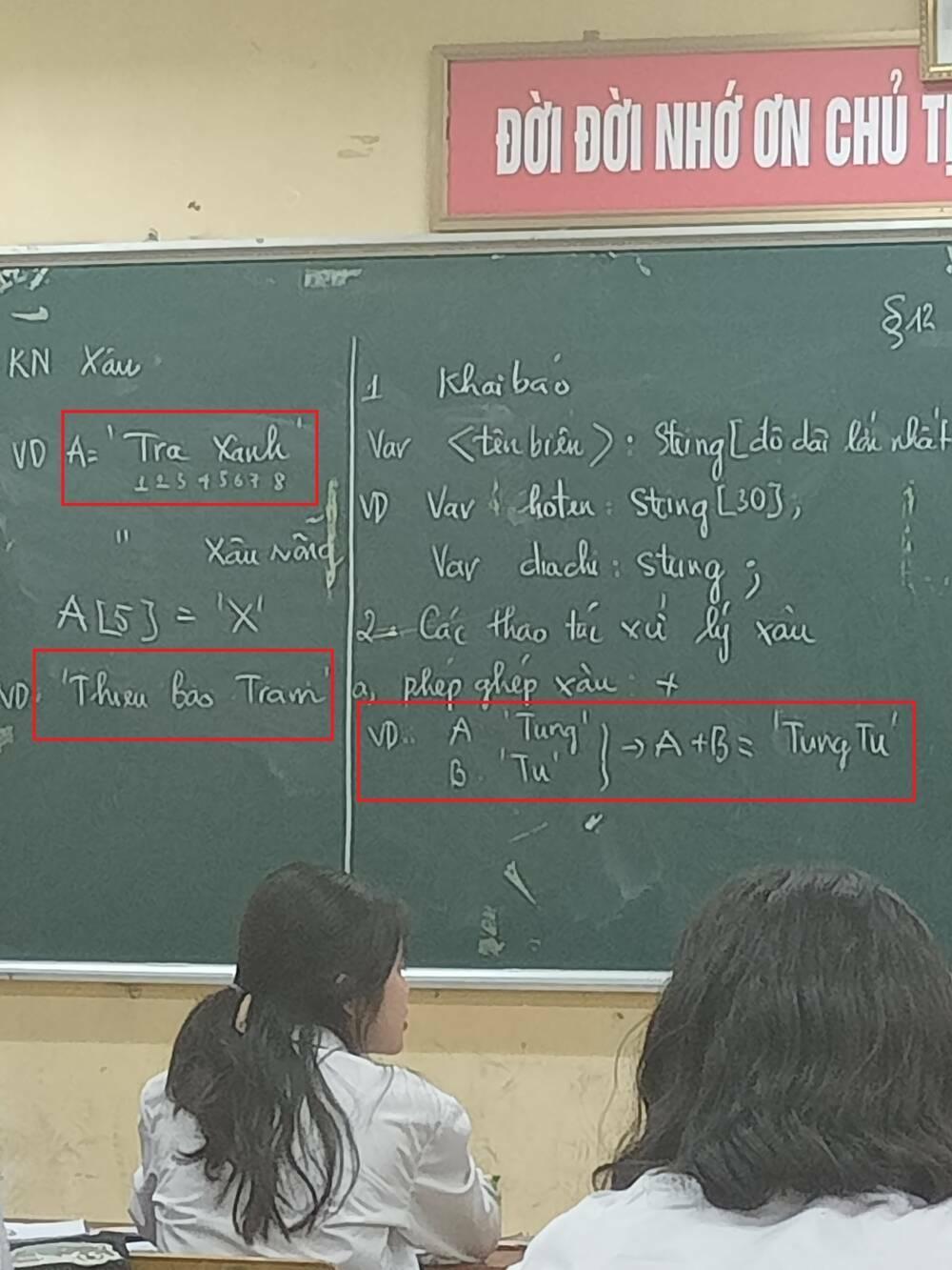 """Bài giảng với drama """"Trà Xanh"""" cùng sự xuất hiện của bộ 3 """"Trâm – Tùng – Tú"""" khiến MXH rần rần"""