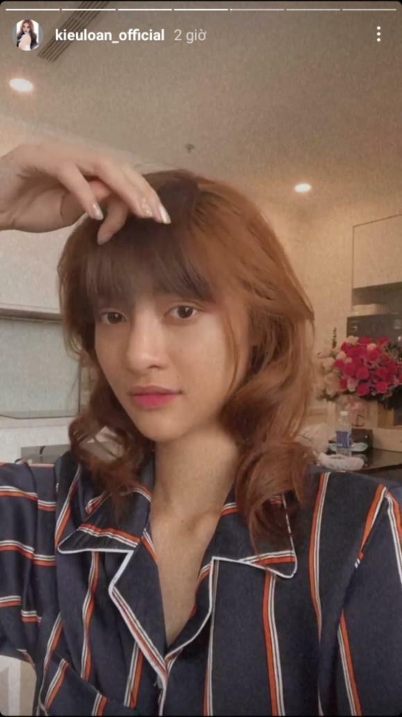 Á hậu Kiều Loan 'lột xác' ngoạn mục khi bất ngờ gia nhập 'hội chị em cắt tóc mái'