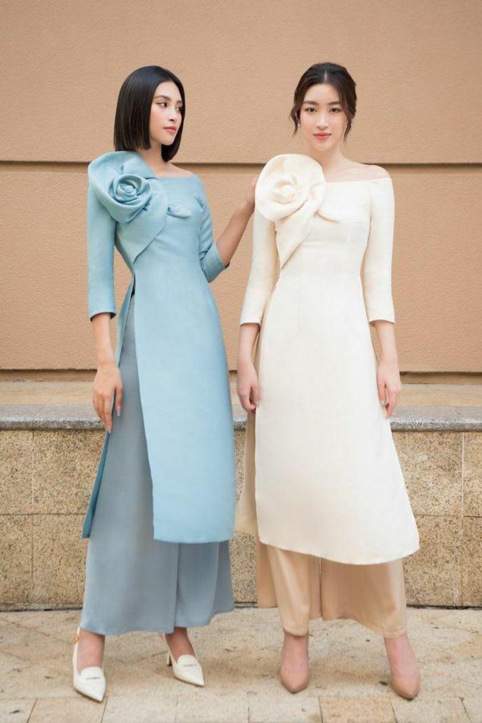Hoa hậu Đỗ Mỹ Linh, Tiểu Vy nền nã với áo dài màu pastel