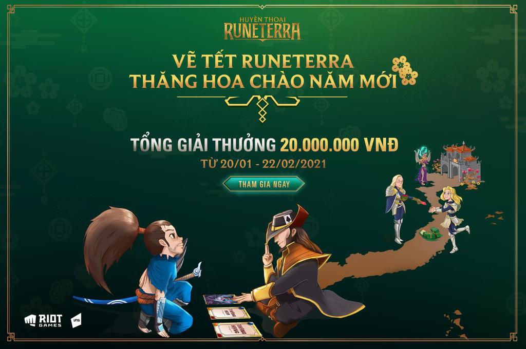 """Huyền Thoại Runeterra tưng bừng khai xuân với cuộc thi """"Vẽ Tết Runeterra – Thăng hoa chào năm mới"""""""