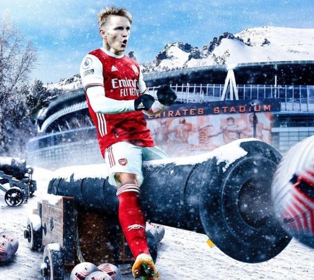Cười té khói với loạt ảnh chế Odegaard về Arsenal