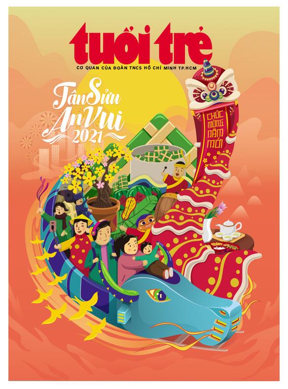 Bìa Tuổi Trẻ xuân – Tân Sửu an vui giành giải nhất của Hội Nhà báo TP.HCM