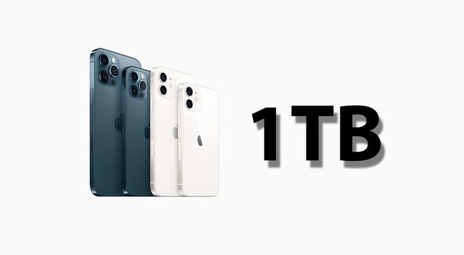 iPhone mới sẽ có thêm tuỳ chọn bộ nhớ 1TB