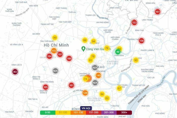 Chất lượng không khí ở TP.HCM xấu trở lại