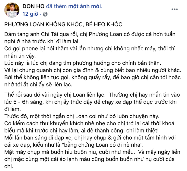 """Nhói lòng cuộc sống của ca sĩ Phương Loan sau khi NS Chí Tài mất và câu nói xót xa: """"Nhớ anh Tài quá, làm sao cho hết nhớ đây"""""""