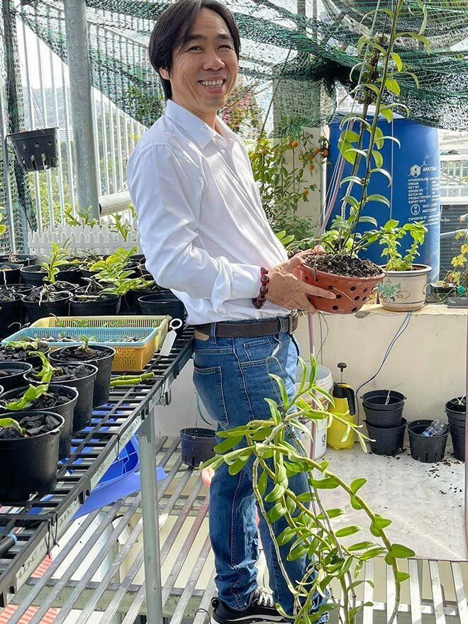Ông chủ vườn lan Nguyễn Huy Bình và bí quyết cứu cánh cho giới chơi lan