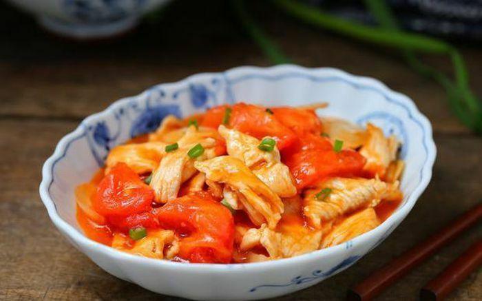 Giúp nàng lấy lại dáng thon sau Tết với món ức gà sốt cà chua ăn nhiều không lo béo