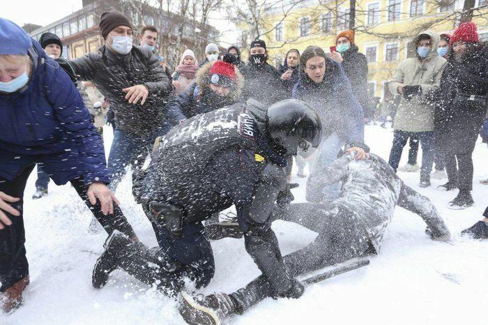 Nga bắt hơn 5.100 người biểu tình đòi trả tự do cho ông Navalny