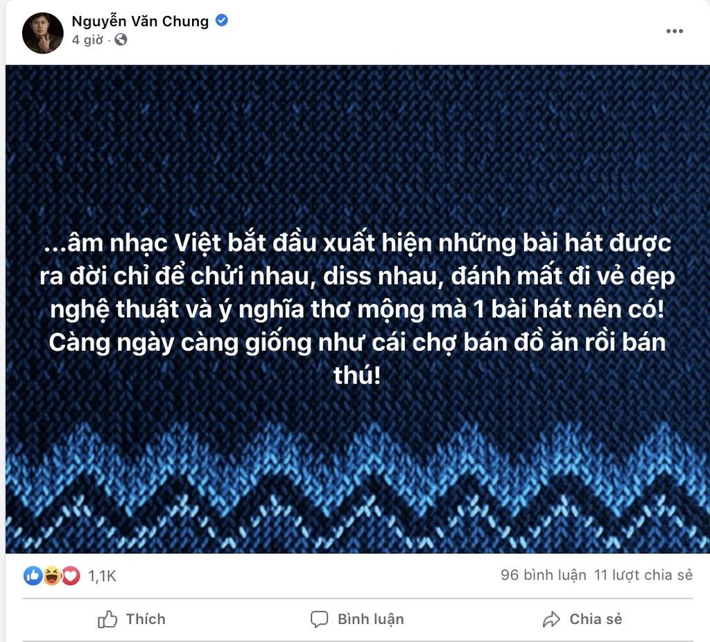 Nguyễn Văn Chung bất ngờ đăng tải 2 tâm thư đầy bức xúc: 'Âm nhạc Việt ngày càng giống như cái chợ'
