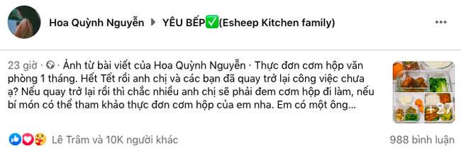 Vợ đảm khoe thực đơn cơm trưa nấu cho chồng gây bão cộng đồng mạng chưa đầy 24h đã 10k like