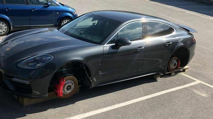 Nạn trộm bánh xe xảy ra khắp mọi nơi, kể cả ở Thụy Điển