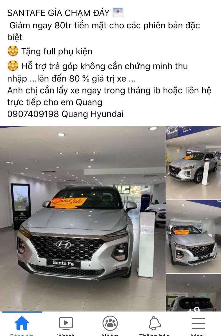 Hyundai SantaFe dọn kho đón bản mới, giảm giá mạnh tới 85 triệu đồng