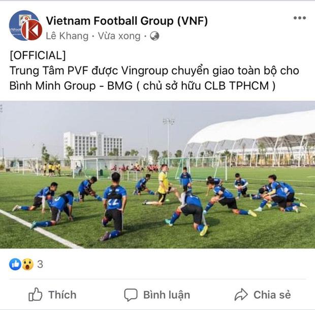 """Trung tâm Đào tạo Bóng đá trẻ PVF sắp """"sang tên đổi chủ""""?"""