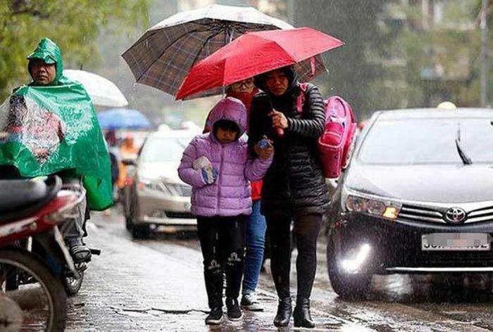 Thời tiết ngày mai 26/2: Không khí lạnh tràn về, Bắc Bộ mưa nhiều nơi