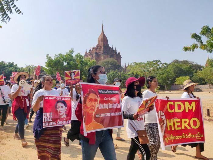 Mỹ hoan nghênh Anh và Canada trừng phạt các quan chức quân đội Myanmar