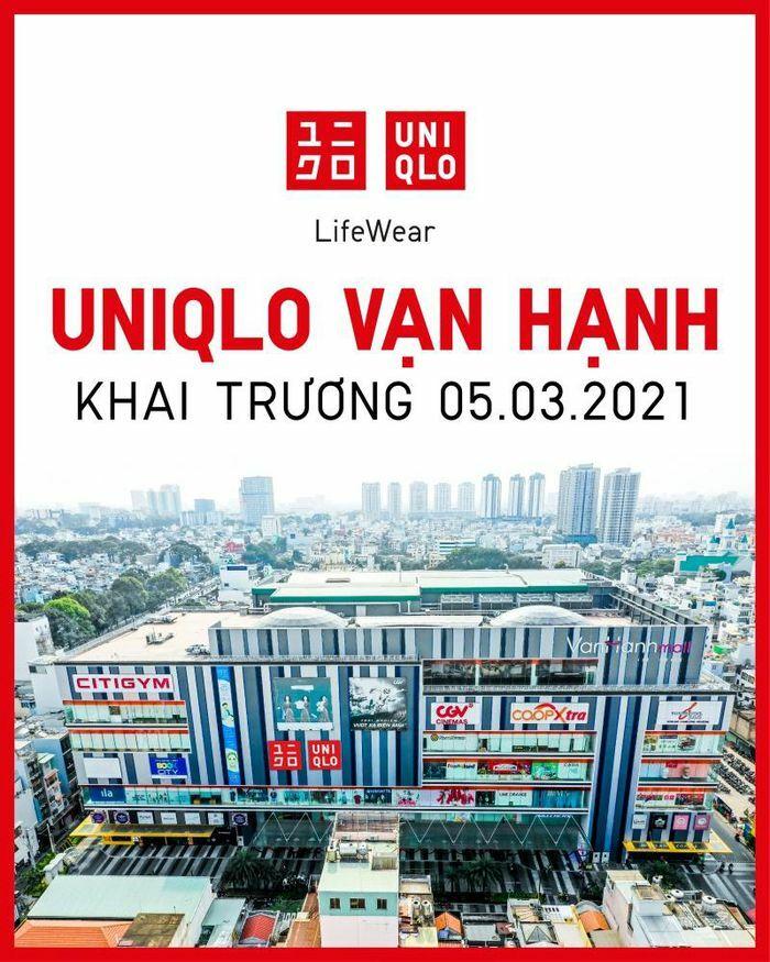 Cửa hàng UNIQLO thứ tư tại Tp.HCM sẽ khai trương tại TTTM Vạn Hạnh vào ngày 05/03