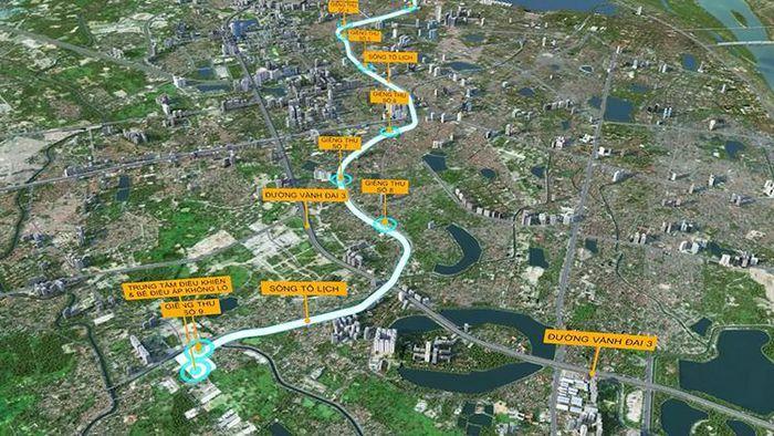 Đề xuất xây dựng hệ thống hầm chống ngập kết hợp cao tốc ngầm chống ùn tắc dọc sông Tô Lịch