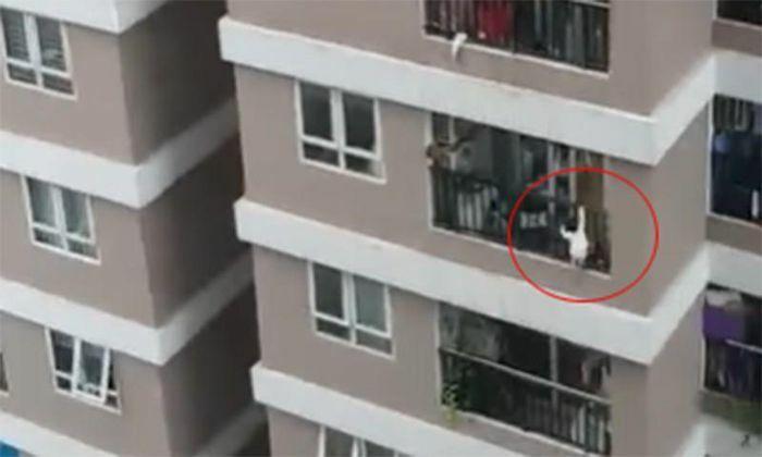 Nam thanh niên đỡ bé gái rơi từ tầng 12 chung cư