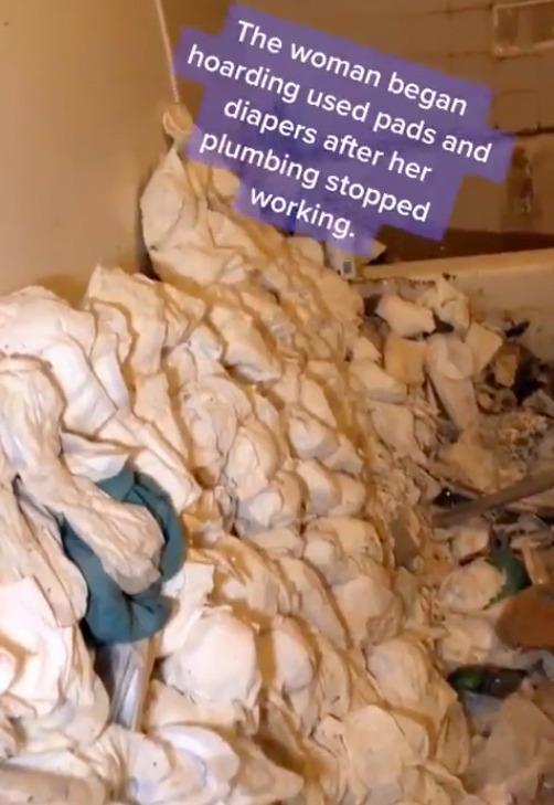 Đường ống nước vỡ nhưng không sửa, người phụ nữ dùng toàn băng vệ sinh và tã lót tạo ra cảnh tượng kinh hoàng khiến đội dọn dẹp ám ảnh muốn nghỉ việc