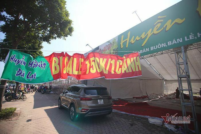 """Chợ hoa """"nhà giàu"""" Hà Nội chiều 30 Tết: Đủ chiêu giảm giá"""