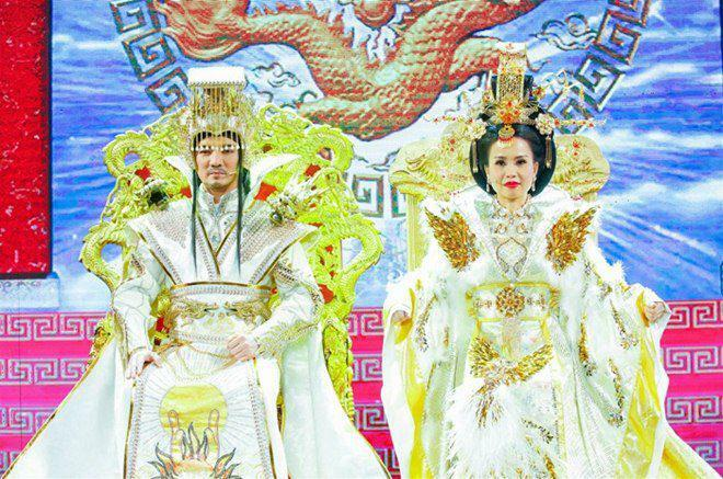 Ngọc Hoàng Đàm Vĩnh Hưng mặc trang phục nặng 20kg, dàn Táo mất nhiều giờ hóa trang