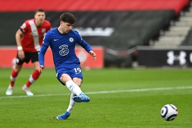Southampton 1-1 Chelsea (hiệp 2): Mount sút 11m thành công