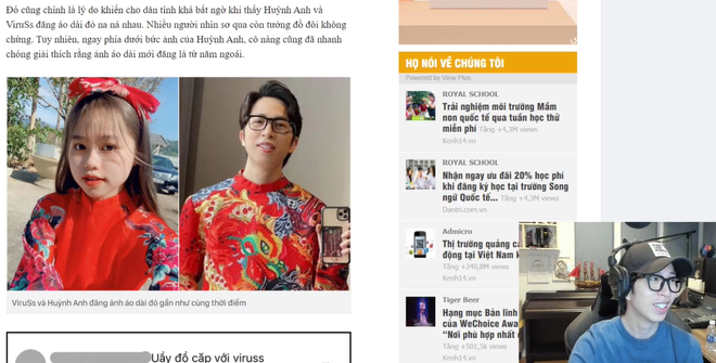 ViruSs livestream dành gần 20 phút chỉ để nói về vụ follow Huỳnh Anh – bồ cũ của Quang Hải