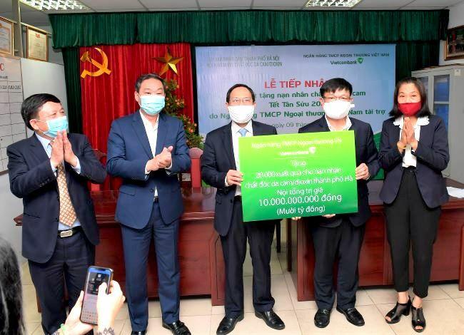 Vietcombank tặng 10 tỷ đồng quà Tết cho 20.000 nạn nhân chất độc da cam/dioxin tại TP. Hà Nội