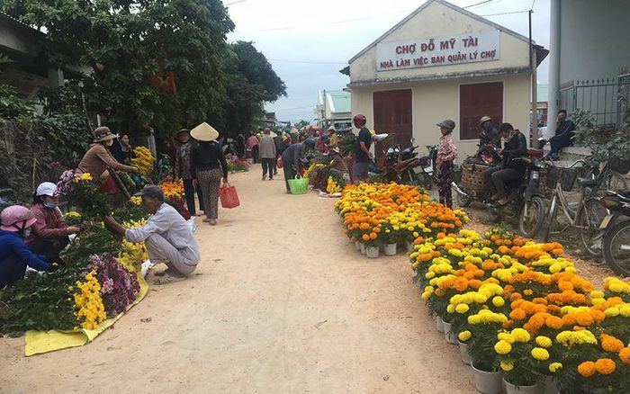 Sắc hoa trong phiên chợ cuối năm