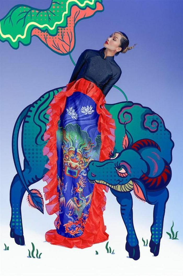 """H""""Hen Nie hóa thân mỹ nữ trong tranh Đông Hồ"""