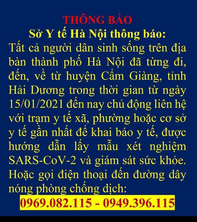 Hà Nội ra thông báo mới việc người từ các tỉnh quay về thủ đô