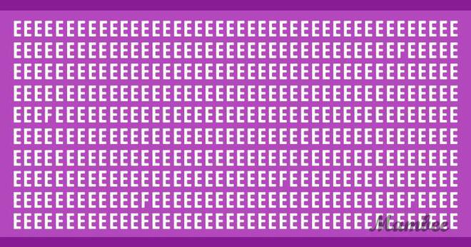 """Thách thức thị giác 3 giây: Làm sao tìm ra đủ 5 chữ cái F trong cả """"rừng"""" chữ cái E"""