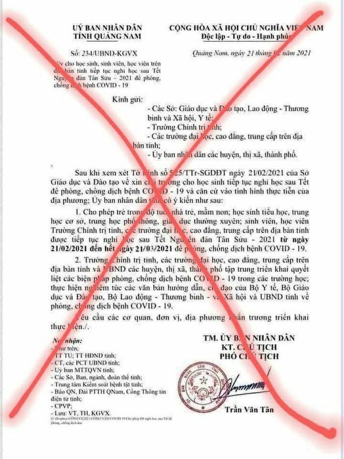 Quảng Nam: Người làm giả văn bản cho nghỉ học là… học sinh lớp 9