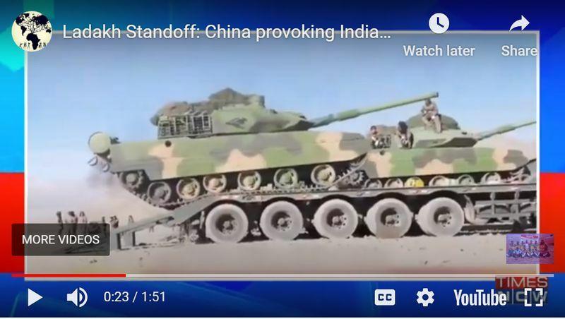 Rộ tin Trung Quốc đưa 350 xe tăng đến gần biên giới với Ấn Độ