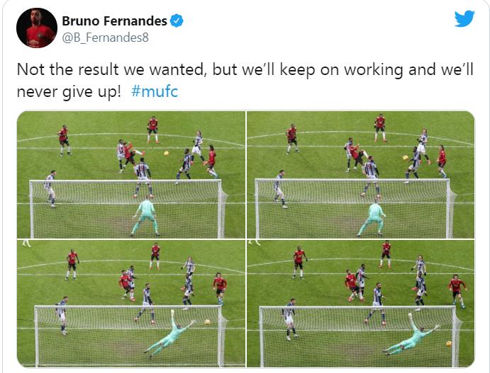 Bruno Fernandes gửi thông điệp đến NHM Man Utd sau trận hòa West Brom