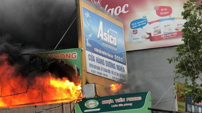 Vĩnh Phúc: Hỏa hoạn thiêu rụi cửa hàng bán điện nước Dương Nghĩa