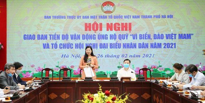 """Hà Nội: Vận động ủng hộ Quỹ """"Vì biển, đảo Việt Nam"""""""