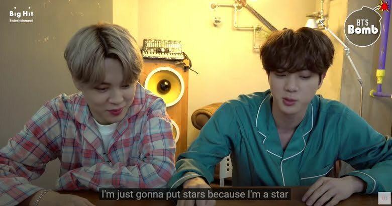 Cưng xỉu khoảnh khắc Jimin và Jin BTS trang trí thiệp cho album mới