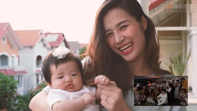 """Con gái Đông Nhi gây thích thú với gương mặt """"không cảm xúc"""" khi mẹ chúc mừng sinh nhật bố Ông Cao Thắng"""