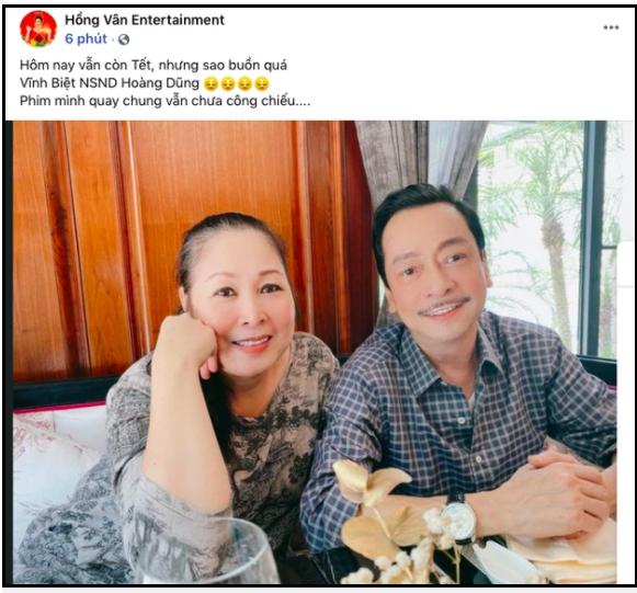 Dàn sao Việt bàng hoàng khi hay tin NSND Hoàng Dũng qua đời