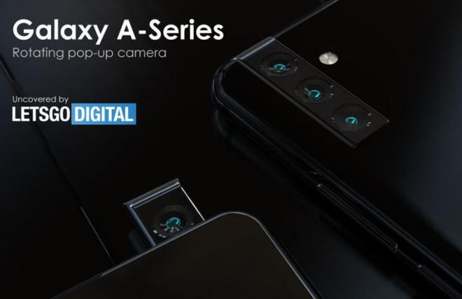 Xuất hiện bằng sáng chế Galaxy A trang bị camera pop-up có khả năng xoay từ phía sau ra trước làm camera selfie