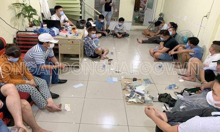 Triệt phá sòng bạc ở Đồng Nai ngày Tết