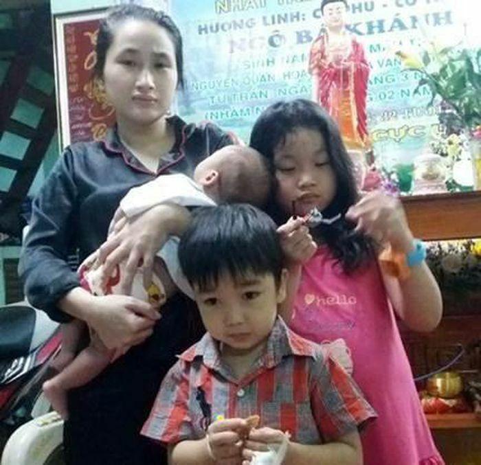 Người mẹ trẻ có 3 con nhỏ cần giúp đỡ