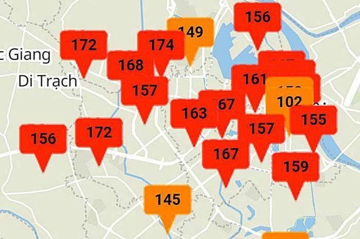 Sáng nay, chất lượng không khí ở mức có thể gây hại cho sức khỏe